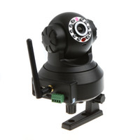 Wholesale Wireless WiFi Security IP Camera IR Cut Night Vision P T Black With SD Card Slot AB2504
