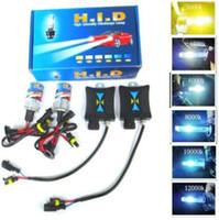 achat en gros de xénon kit caché 55w h3 mince-Xenon Hid Kit Ballast Slim 55W H1 H3 H4 H7 H8 / H9 / H11 4300K 6000k 8000K 10000K 12000K 1pcs durables