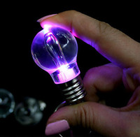 Wholesale Colorful Gradation LED Light Keychain Light Bulb Style Keyring Unbreakable Acrylic