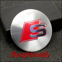 Wholesale Sline S Aluminum Alloy Car Emblem Wheel Center Cover Caps Cap Sticker Badge Badges Emblems