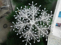 Wholesale New White XMAS Christmas Snowflake Charms Decoration Ornaments Applique For Tree