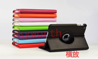 Wholesale 360 Rotating Leather Case Smart Cover For iPad Mini inch Tablet PC Stand