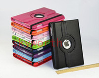 Wholesale 360 Rotary PU Leather Case Cases Cover For iPad Mini Tablet PC Stand Holder
