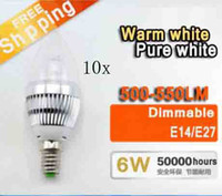 10X Hot selling E14 E27 E12 Led Candle Lamp 3x2w 6W Dimmable...