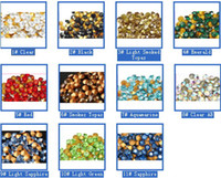 Wholesale 1650pcs pointed back loose crystal stones rhinestones SS6 SS10 SS14 SS16 SS18 selection colors mix