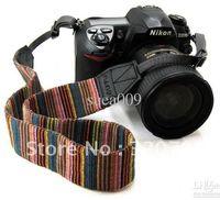 Wholesale Camera Neck Strap for SLR DSLR Color stripes Soft red DSLR Shoulder Strap Grip pc