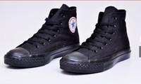 Precio de Altos tops hombres 45-DORP QUE ENVÍA LOS NUEVOS zapatos de lona de los hombres de las mujeres adultas altas-Top unisex de size35-45 los nuevos 13 colores atados encima de zapatos de la zapatilla de deporte de los zapatos ocasionales