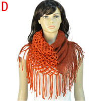 Wholesale Fashion winter warm yarn knitting infinity magic scarves for women multiple usages NL