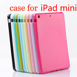 Wholesale high quality TPU back case rubber gel shell cover soft silicone case for inch ipad mini EFI