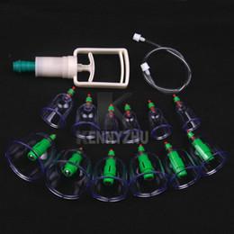 1 Set 12pcs xícaras + 6pcs agulha magnética + tubo de extensão + bomba chinês moderno vácuo saudável colocação conjunto massagem terapêutica sucção aparelho