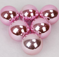 Wholesale Hot Ball Ornaments on Trees for Christmas Party cm in Diameter Pink Light Ball