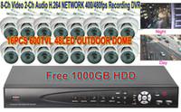 Wholesale TVL LED Outdoor Bullet CAMERA CH NETWORK GB HD DVR CCTV SYSTEM H903