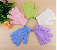 Wholesale 1pair Bath Shower Soap Foam Gloves Exfoliating massager