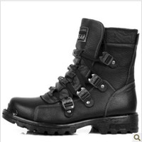 Ankle Boots Cowboy Boots PU 2012 leather high-top boots Hiking Boots Mens army boots