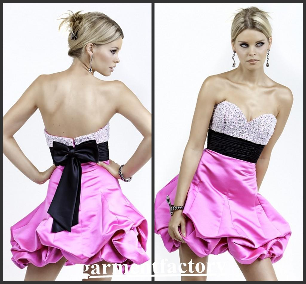 Lovely Kids Strapless Dress Sexy Corset Puffy Pink Girls Party ...