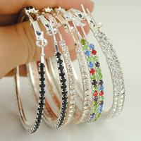 basketball wives - Fashion Basketball Wives Earrings Crystal Glitter Hoop Earrings For Party Girls pairs E023