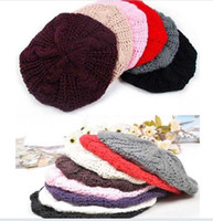 New 9 Colors Winter Warm Womens Beret Braided Baggy Beanie K...