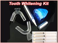 Whitening Kit   50packs Teeth Bleaching Kit Whitening Gel Syringes Whitening Pen LED Light Ships Free