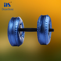 Wholesale Good quality dumbbell set Water Poured Dumbbell have RoHS approved pairs EMS