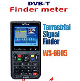 Wholesale WS6905 quot LCD Satlink WS Digital TV DVB T Terrestrial Signal Finder Meter Electronics XMAS