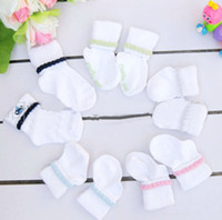 Wholesale Newborn cotton socks baby white plain socks children s short socks suitable for infants