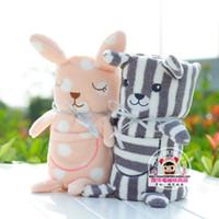 baby bankets - Children Blanket Cartoon Animal Coral Fleece Baby Bankets Kids Gift Striped Bear Size cm