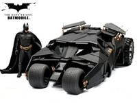 Wholesale The Dark Knight BATMAN BATMOBILE Tumbler BLACK CAR Vehecle Toys With Figure