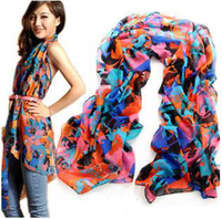 Wholesale Scarfs fashion cape long scarf fashion voile scarves women chiffon scarf shawl hijab