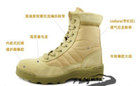 Wholesale U S military boots commando tactics desert boots combat boots army fans the leather boots tact