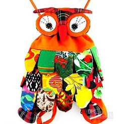 OWl style colorful bag owl children's bag 10 colors optional Size: 30*25cm Cute Backpack 5PCS/LOT ER