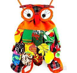 Wholesale OWl style colorful bag owl children s bag colors optional Size cm Cute Backpack ER
