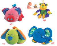 Wholesale TOLO SOFT EDUCATION soft rattle doll baby toys mix lovely animal