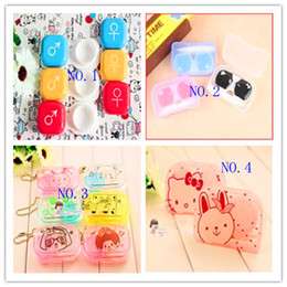 Wholesale lovely cartoon contact lense cases animal contact lenses box a variety of optional DHL Free