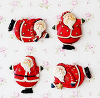 Wholesale Christmas decorations Santa Claus refrigerator magnet Resin festival gift