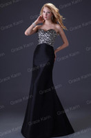 Wholesale 1pc Retail Women Sexy Slit Ball Prom Dresses Black Leopard Mermaid Evening Gown Party Dress CL3423