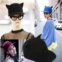 Wholesale Fashion Vivi murua cap street style small little demon cat ear pure woolen hat T7124