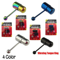 Wholesale mixed Vibrating Tongue Bar Ring Free Batteries for Body Jewelry Piercing
