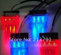Wholesale 4x3 LED Strobe Flash Warning EMS Police Car Light Flashing Firemen Lights