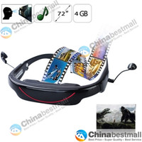 Wholesale Portable Eyewear quot GB Widescreen Multimedia Player Portable Video Glasses Virtual Theatre