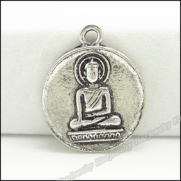Wholesale Fashion Buddha charms Antique Plated Silver zinc alloy pendant Fit DIY Jewelry Findings