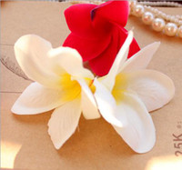 Wholesale Fake Silk artificial frangipani muti colors without branches home decoration corsage hair flower