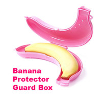 1   50 pcs lot Large Cute Banana Guard Container Storage Lunch Fruit Protector Plastic Box Case