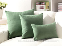 Wholesale Cotton and linen cushion for leaning on to cover back cushion sets sofa green hold pillow case do no