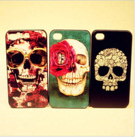 Christmas Iphone4 4S 4G 4th TPU Skull Painted Lacquer 50pcs ...