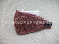 Wholesale Hot Handmade Winter Headband Flowers Headwrap Earband Headwear Crochet Headbands Knitting Headwraps