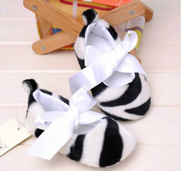 Wholesale Hot Sale Baby Infant Zebra stripe Shoes Kids Prewalker shoes