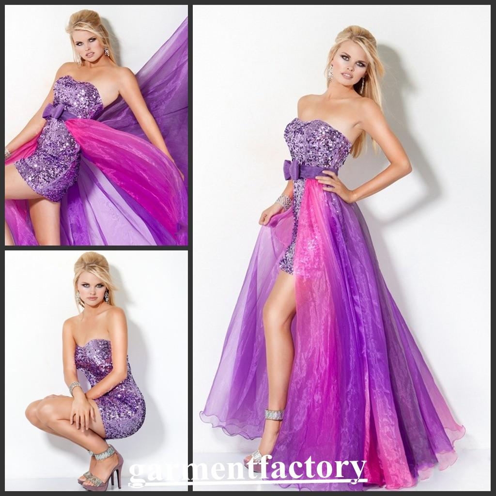 Prom Dresses With Detachable Train - Holiday Dresses