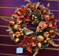 Wholesale Christmas anadem pinecone wreath Christmas items Christmas decorations cm diameter