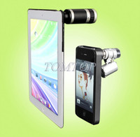 Wholesale New design for New iPad iPhone x Zoom Camera Lens Telescope and Fish Eye Lens Microscopes Cases
