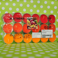 Wholesale Fruit smokeless candle tealight party gift set wedding gift